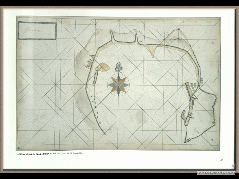 1680-_A-tinted-plan-of-the-bay-of-Gibraltar-_-Hacia