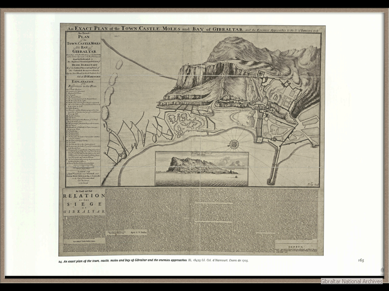1705_An-exact-plan-of-the-town-castle-and-moles-of-Gibraltar-and-enemy-approaches_Colonel-d-Harcourt