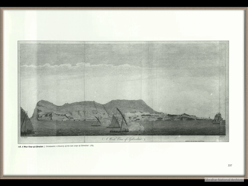 1785_A-West-view-of-Gibraltar-J-Drinkwater