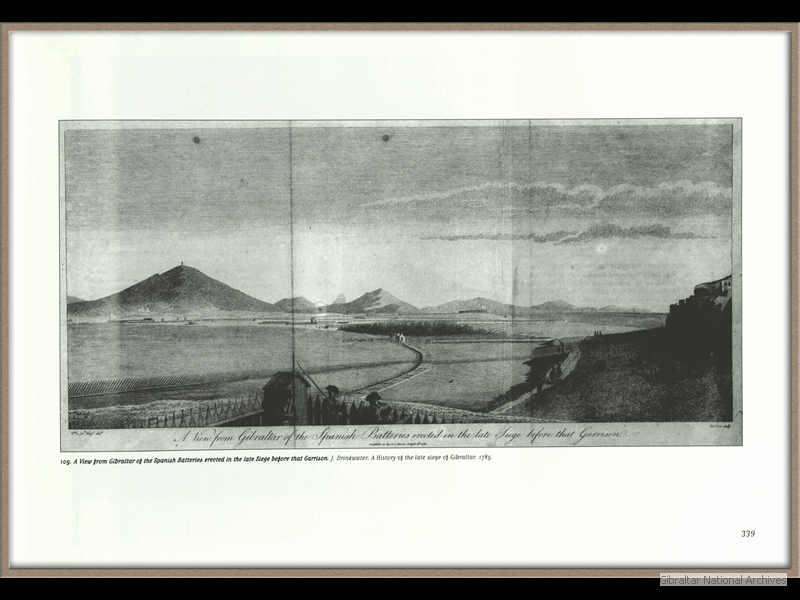 1785_View-of-Gibraltar-from-the-Spanish-batteries-erected-in-the-late-siege-before-that-garrison